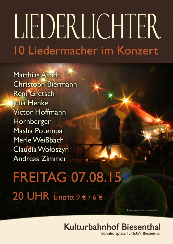 Liederlichter Plakat 2015 D